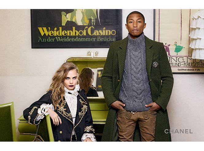 Фото №3 - Кара Дельвинь и Фаррелл Уилльямс в рекламной кампании Chanel