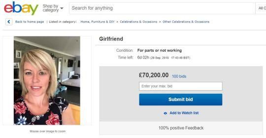 Фото №1 - Британец выставил свою девушку на продажу
