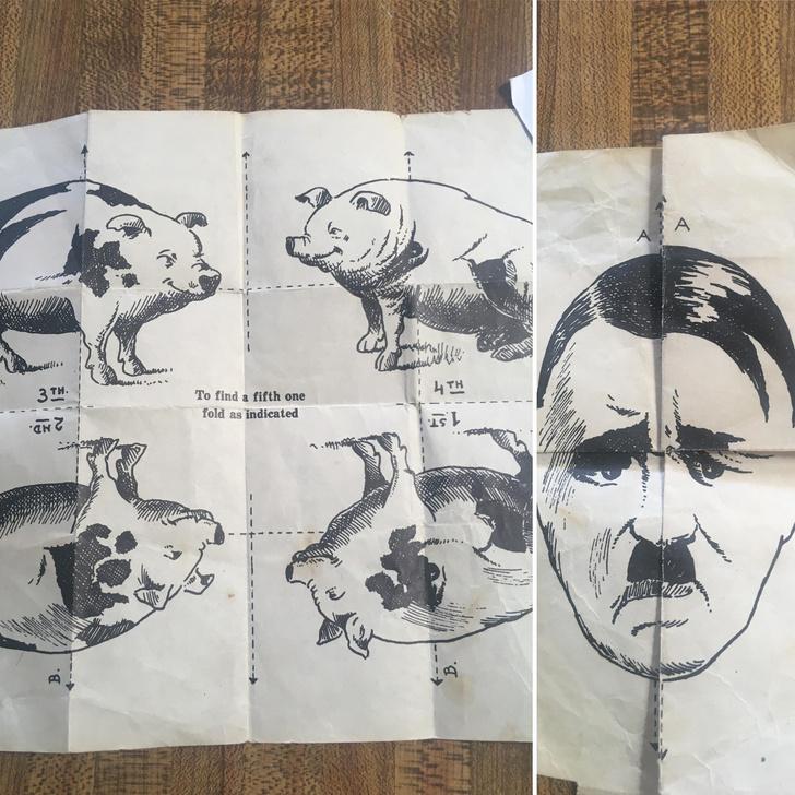Фото №2 - Парень нашел в военной куртке своего деда «рисунок с секретом»