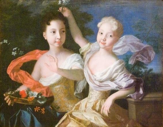 Цесаревны Анна и Елизавета