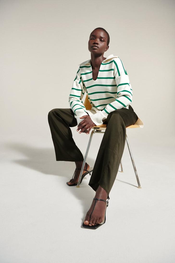 Фото №9 - Полосатый свитер— модное спасение от осенней хандры. И вот 10 классных вариантов на каждый день