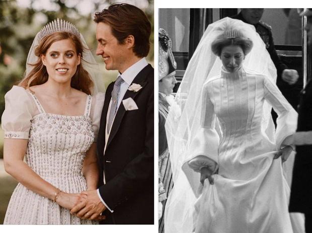 Фото №1 - Связь поколений: кто еще выходил замуж в тиаре принцессы Беатрис