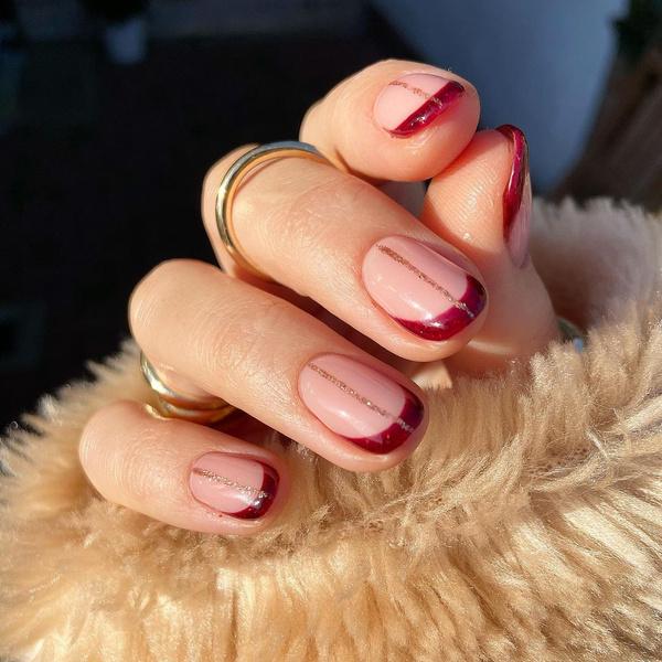 Фото №4 - Розовое золото: 39 стильных и модных идей нарядного маникюра