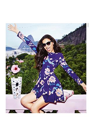 Фото №2 - Адриана Лима снялась в рекламной кампании Vogue Eyewear
