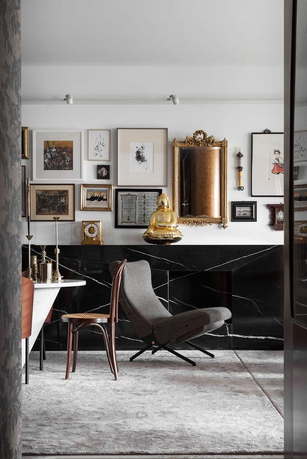 Фото №2 - Эклектичная квартира с винтажной мебелью в Шанхае