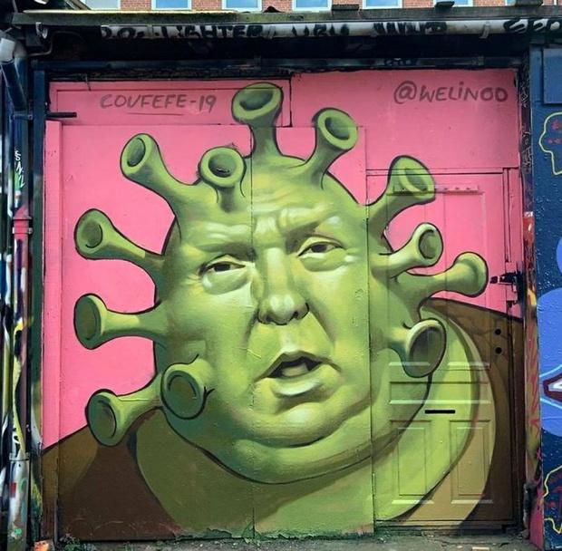 Фото №12 - 20 граффити со всего мира, навеянные коронавирусом