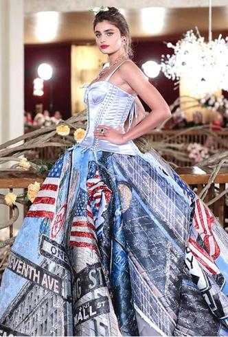 Фото №11 - Только топ-модели: Эшли Грэм, Наоми Кэмпбелл и другие на показе Dolce & Gabbana Alta Moda