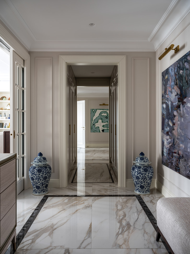Фото №6 - Московская квартира 182 м² в стиле американской классики