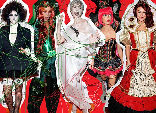 Фото №1 - Топ-10: Лучшие наряды звезд на Хэллоуин