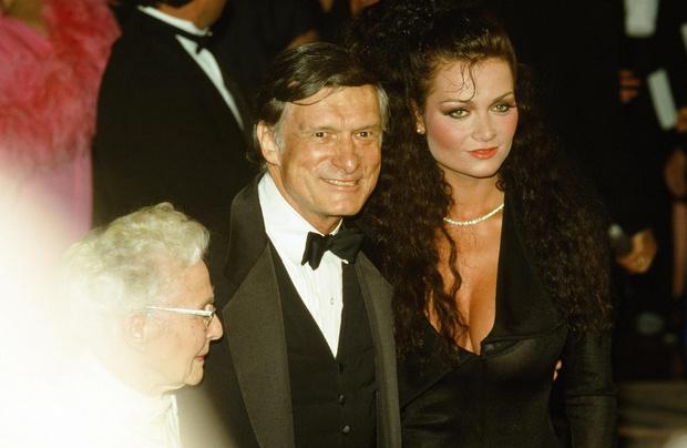 Hugh Heffner with his mistress