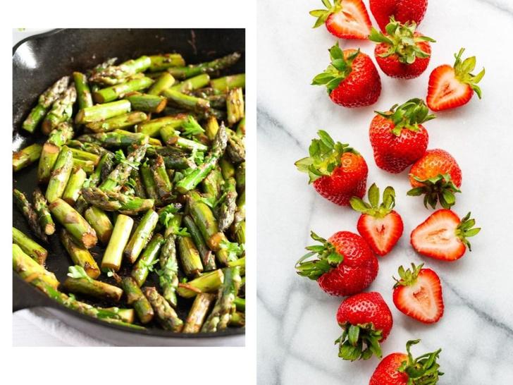 Фото №4 - Клубничная диета: мифы, факты и рецепт легкого салата с клубникой и спаржей