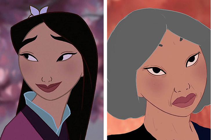 Фото №6 - Как принцессы Disney выглядели бы в старости?