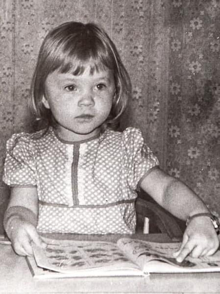 Ира Полякова в детстве