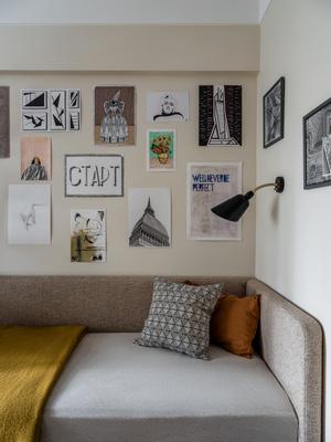 Фото №13 - Квартира с винтажной и дизайнерской мебелью в сталинке