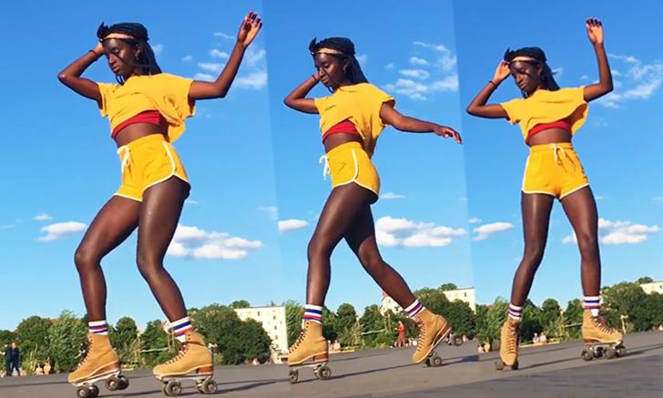 Фото №1 - Оми Джанта: та самая девушка, танцующая на роликах во всех лентах соцсетей (много видео)