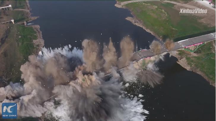 Фото №1 - Подрыв крупного моста за 10 секунд (видео)