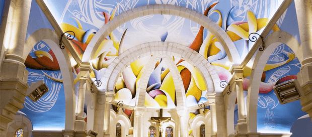 Фото №1 - Красочные граффити в церкви Святой Магдалины
