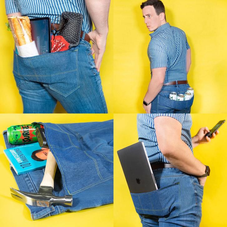 Фото №2 - Парень придумал карман для брюк, в который поместится все на свете (фото)