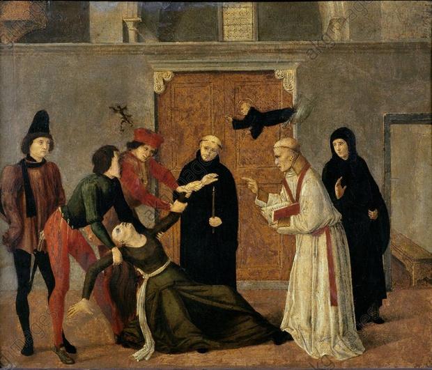 «Изгнание бесов из одержимой» (картина XV века)