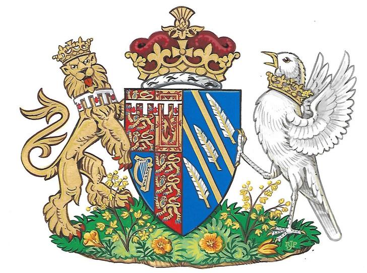 Фото №2 - Что означают лев и голубь в новом гербе герцогини Меган (и на что может обидеться Кейт Миддлтон)