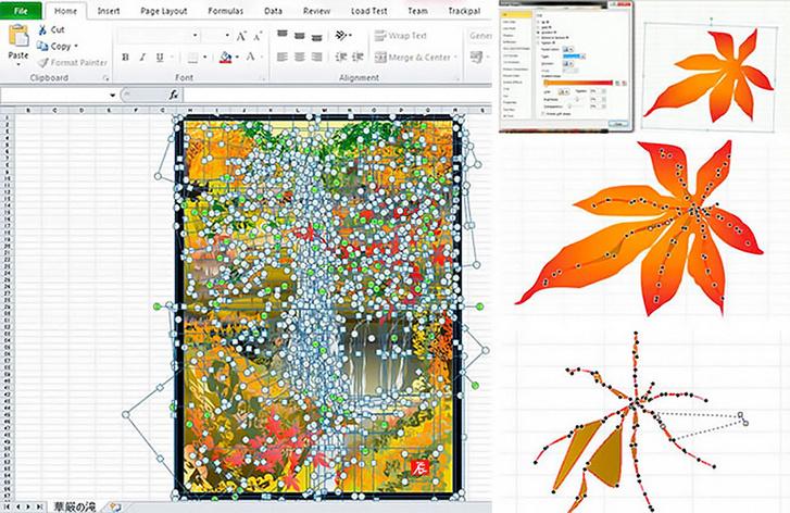 Фото №1 - 80-летний японец рисует картины в программe Excel
