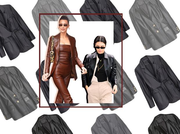Фото №1 - Как носить кожаный жакет из 90-х: лучшие сочетания сезона