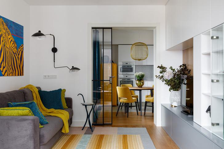 Фото №1 - Квартира молодой девушки в стиле mid-century modern 68 м²