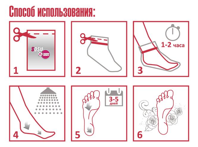 Фото №2 - Новинка в РИВ ГОШ: педикюрные носочки SOSU