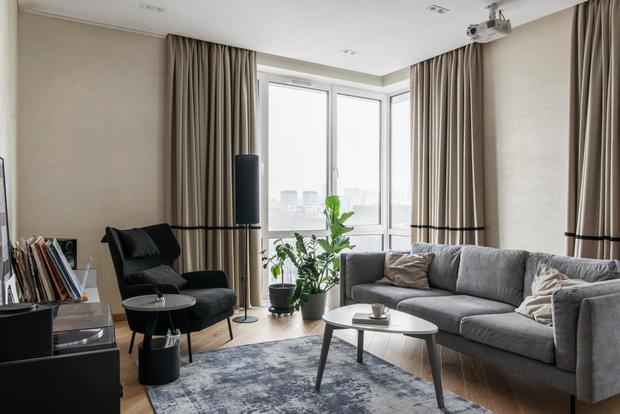 Фото №1 - Светлая квартира с большой гостиной в Москве