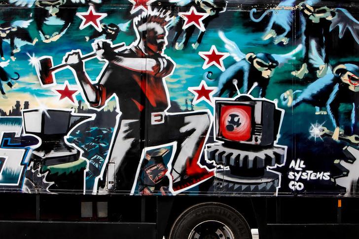 Фото №4 - Самое большое произведение Бэнкси собираются пустить с молотка за миллионы долларов (фото)