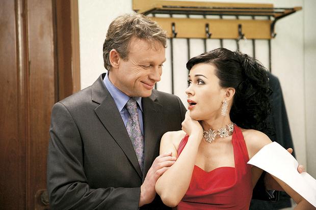 С Сергеем Жигуновым на съемках сериала «Моя прекрасная няня». 2004 г.