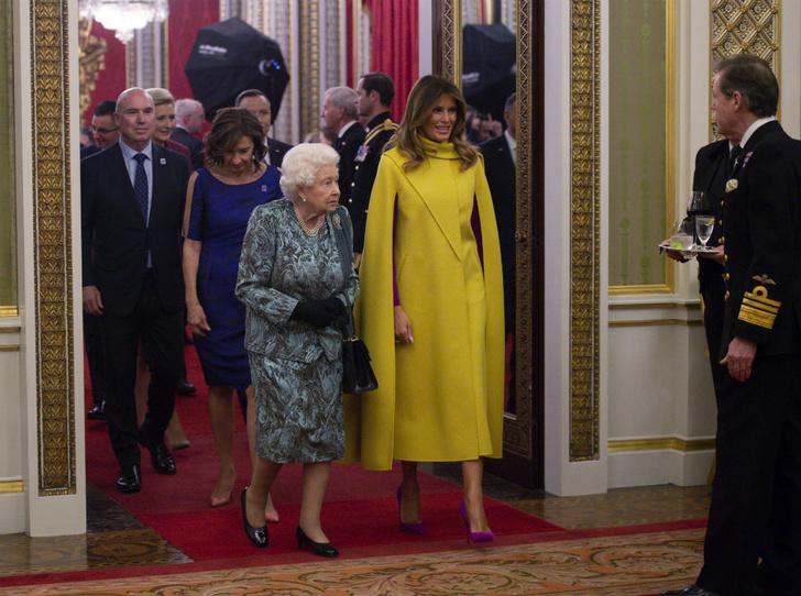 Фото №2 - Американская королева: как и зачем Мелания Трамп копирует Елизавету