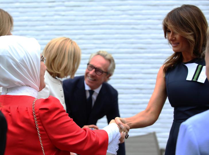 Фото №8 - Звездный час Мелании Трамп: как Первая леди США проявила себя на саммите НАТО