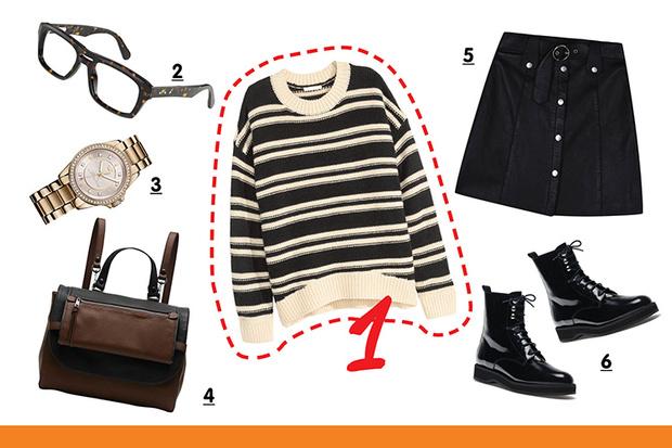 Фото №5 - С чем носить полосатый пуловер