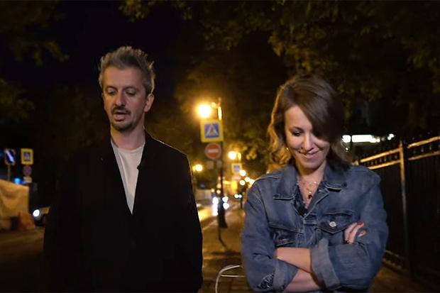Константин Богомолов и Ксения Собчак во время интервью.