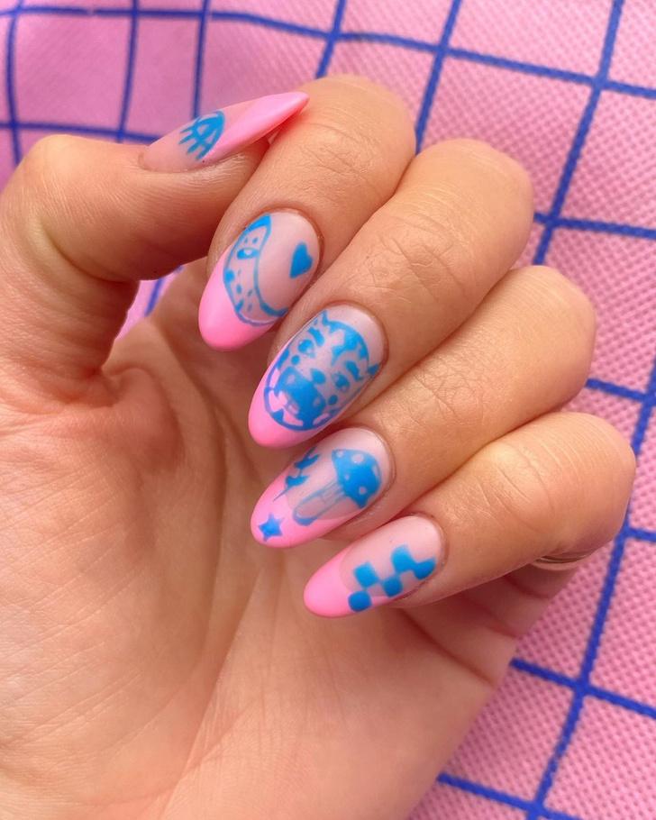 Фото №2 - Go pink! 15 идей розового маникюра
