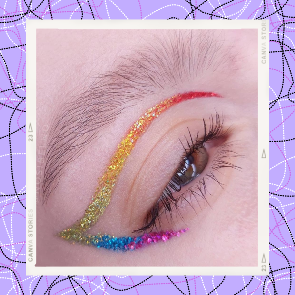 Фото №1 - Разноцветные стрелки— самый яркий бьюти-тренд осени из Инстаграма