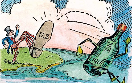 Фото №1 - 16 января 1920 г. В США по всей стране вступил в силу сухой закон