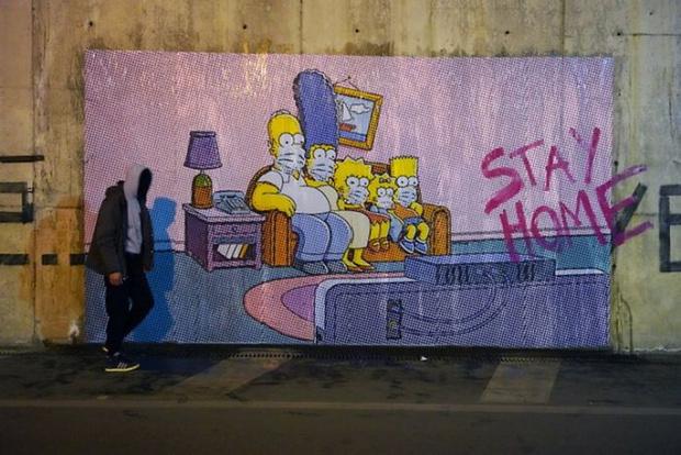 Фото №6 - 20 граффити со всего мира, навеянные коронавирусом