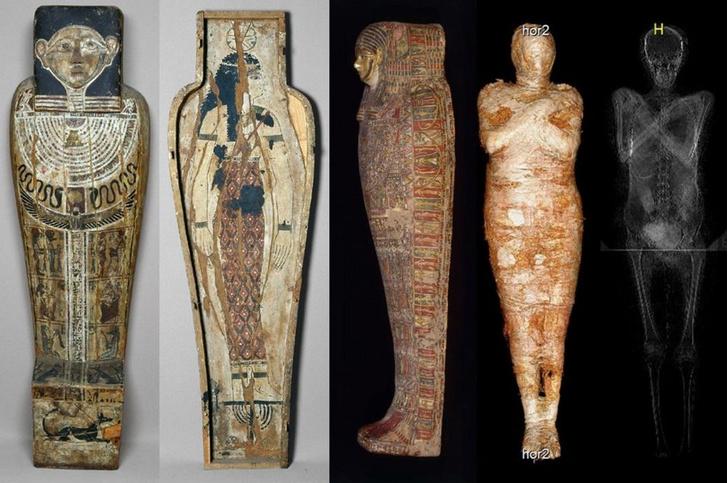 Фото №1 - Впервые обнаружена древнеегипетская мумия беременной женщины