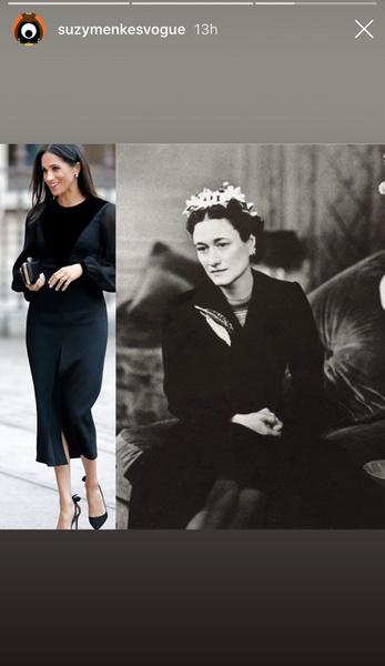 Фото №4 - Неожиданный вывод модного эксперта о стиле Меган Маркл: «Новая Уоллис Симпсон»