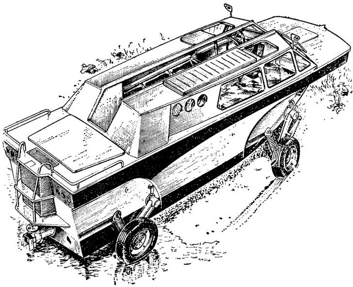 Фото №2 - Советский автомобиль-амфибия, который построил музыкант