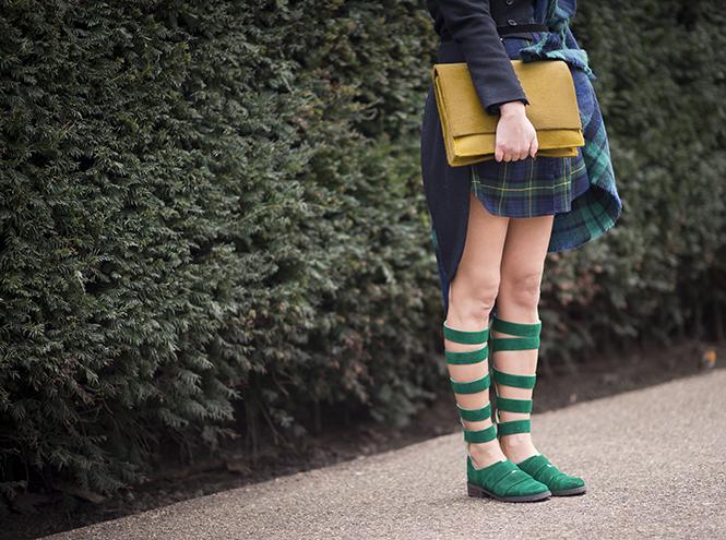 Неделя моды в Лондоне street style уличная мода весна