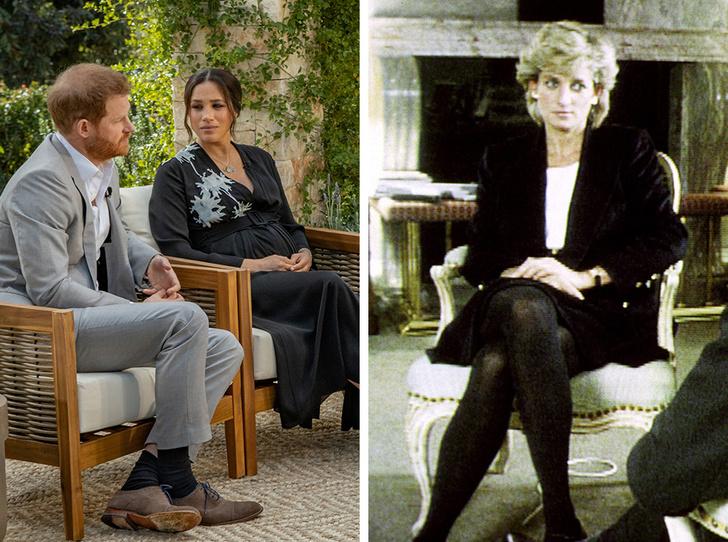 Фото №1 - Разные истории: почему нельзя сравнивать скандальные интервью Меган и Дианы