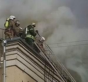 Фото №1 - Семь студентов погибли при пожаре института в Москве