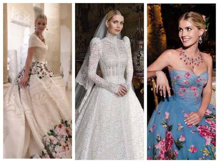 Фото №1 - Королевский размах: шесть свадебных платьев леди Китти Спенсер