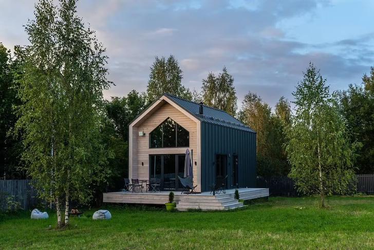 Фото №2 - Небольшой дом с панорамными окнами под Волоколамском
