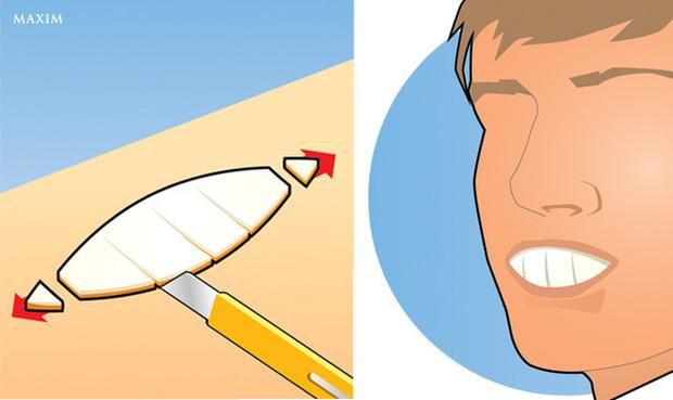 Фото №1 - Детский трюк: как сделать зубы из апельсина