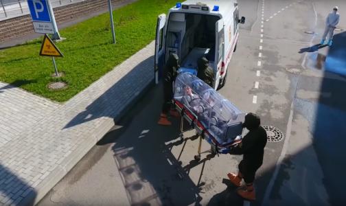 Фото №1 - В Боткинской больнице показали видео, как принимают пациентов с подозрением на опасные инфекции