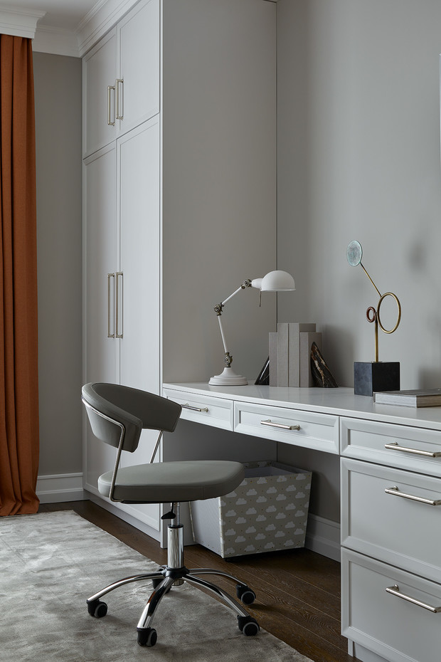 Корпусная мебель изготовлена на заказ в мебельной студии Sunday.